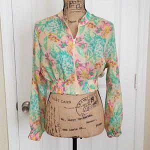 ASOS Cropped Sheer Jacket